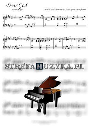 Dear God - Hunter Hayes - nuty na pianino i fortepian