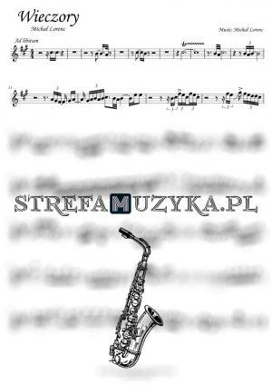 Wieczory - Michał Lorenc nuty na Saksofon Altowy