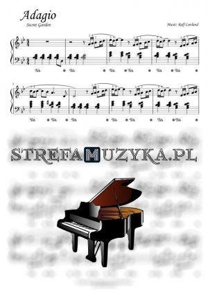 Adagio - Secret Garden - nuty na pianino i fortepian