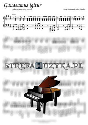 Gaudeamus Igitur - nuty na pianino i fortepian