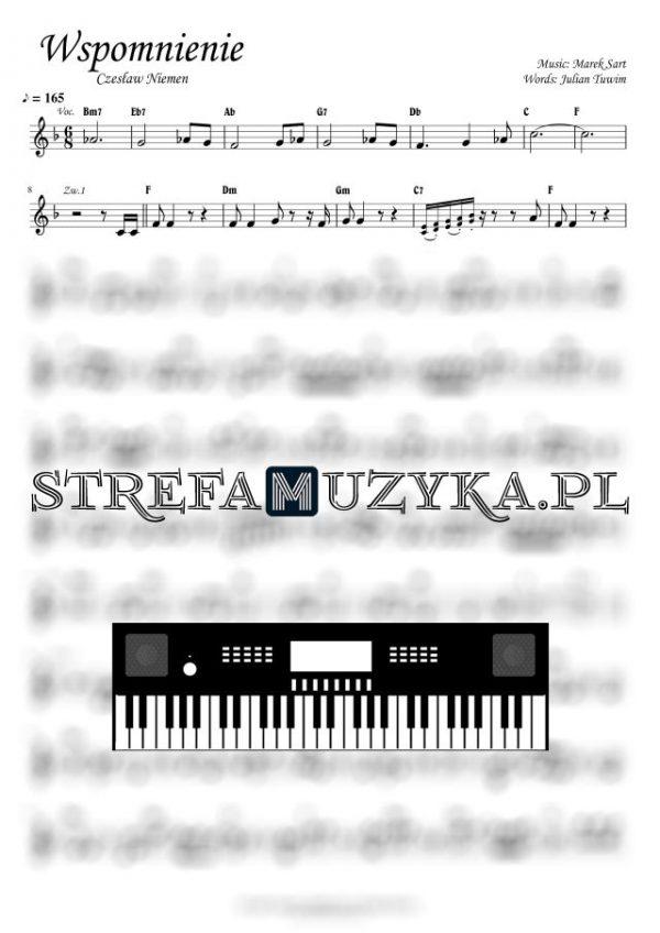 Wspomnienie - Czesław Niemen - Nuty na Keyboard