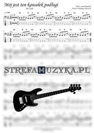 Mój jest ten kawałek podłogi - Mr Zoob - Gitara Basowa bass tab