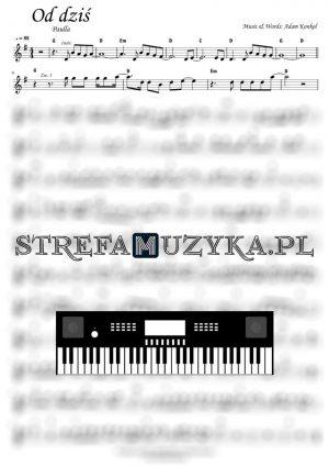 Od dziś - Paulla - Nuty na Keyboard