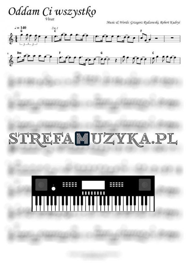 Oddam Ci wszystko - Vivat - Nuty na Keyboard