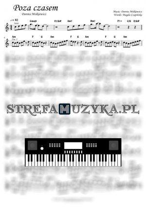 Poza czasem - Dorota Miśkiewicz - Nuty na keyboard