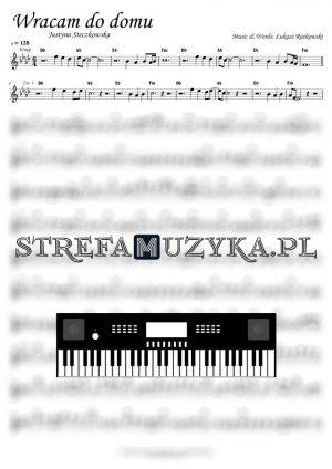 Wracam do domu - Justyna Steczkowska - nuty na Keyboard