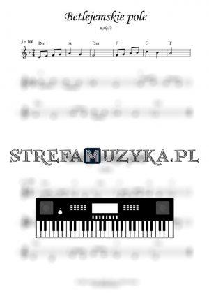 Betlejemskie pole nuty na keyboard