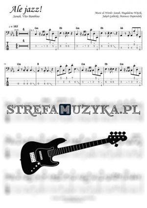 Ale jazz! - Sanah, Vito Bambino - Gitara Basowa bass tab