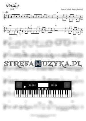 Baśka - Wilki - Nuty na Keyboard