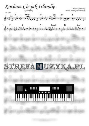 Kocham Cię jak Irlandię - Kobranocka - nuty na Keyboard