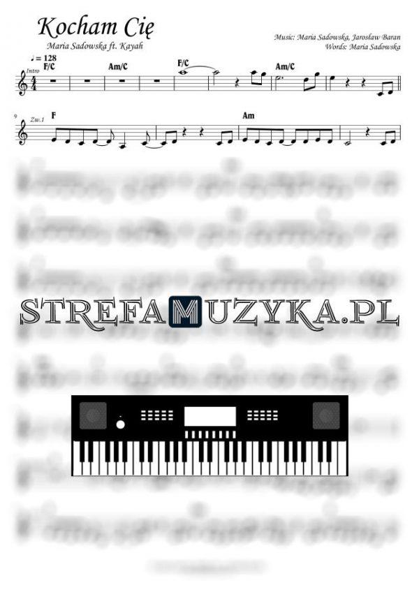 Kocham Cię - Maria Sadowska nuty na keyboard