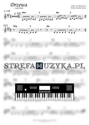 Drzewa Lady pank nuty na keyboard