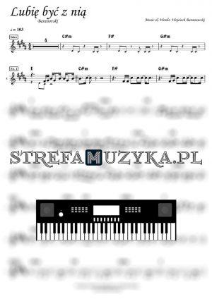 Lubię być z nią - Baranovski nuty na keyboard