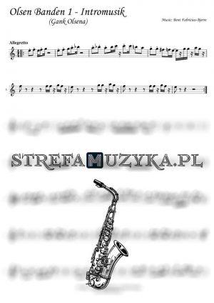 Olsen Banden 1 - Intromusik (Gank Olsena) - nuty Saksofon Altowy