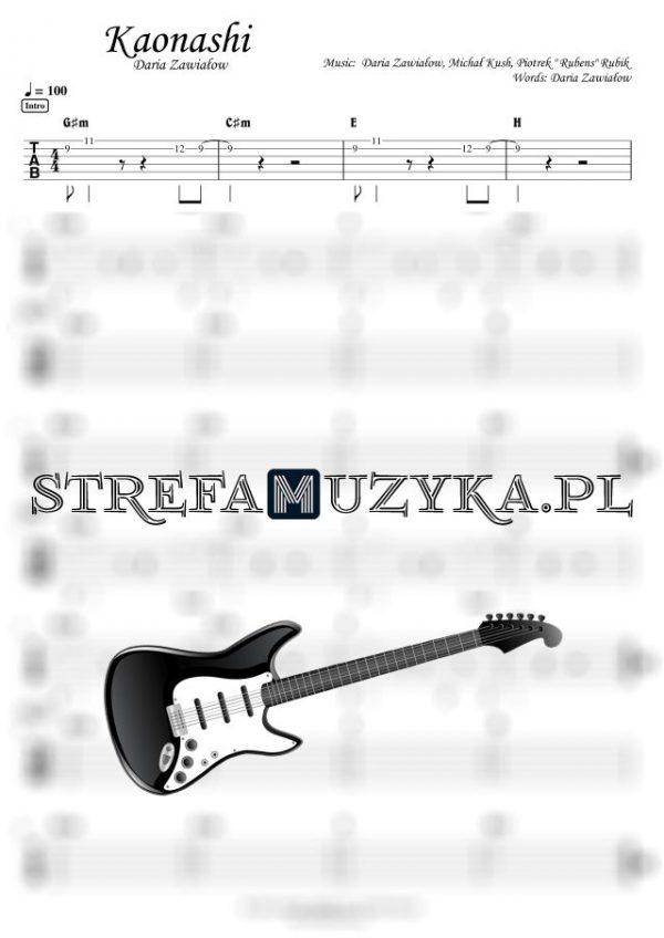 Kaonashi - Daria Zawiałow - Gitara - Chords & Guitar Tab