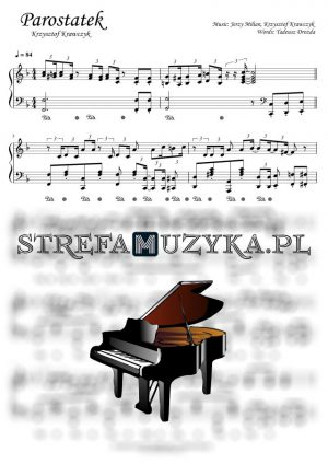 Krzysztof Krawczyk Parostatek nuty na pianino