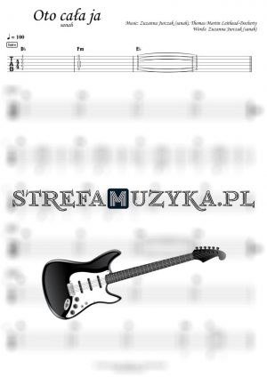 Oto cała ja - Sanah - Gitara - Chords & Guitar Tab - StrefaMuzyka.pl