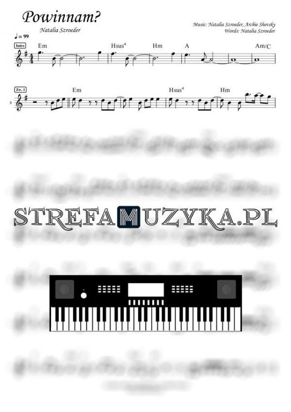 Powinnam? - Natalia Szroeder - Nuty na Keyboard - StrefaMuzyka.pl