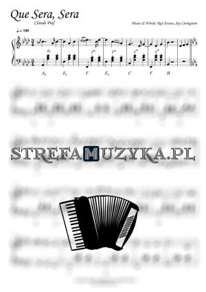 Que Sera, Sera - Claude Piaf - Nuty na Akordeon - StrefaMuzyka.pl