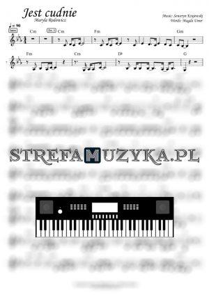 Jest cudnie Maryla Rodowicz nuty keyboard