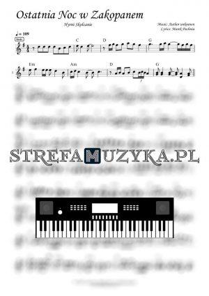 Ostatnia noc w Zakopanem nuty na keyboard