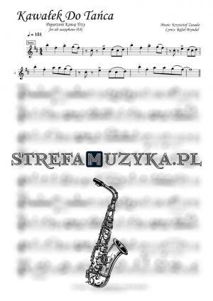 Kawałek do tańca nuty saksofon altowy