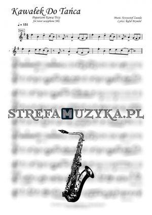 Kawałek do tańca nuty na saksofon tenorowy