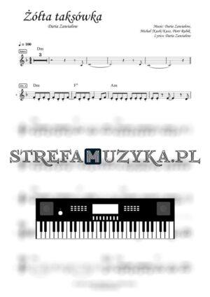 Żółta taksówka - Daria Zawiałow - Nuty na Keyboard - StrefaMuzyka.pl