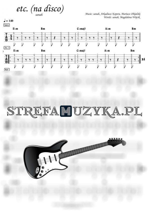 etc. (na disco) - sanah - Gitara - Chords & Guitar Tab - StrefaMuzyka.pl