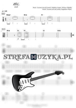 etc. - sanah - Gitara - Chords & Guitar Tab - StrefaMuzyka.pl
