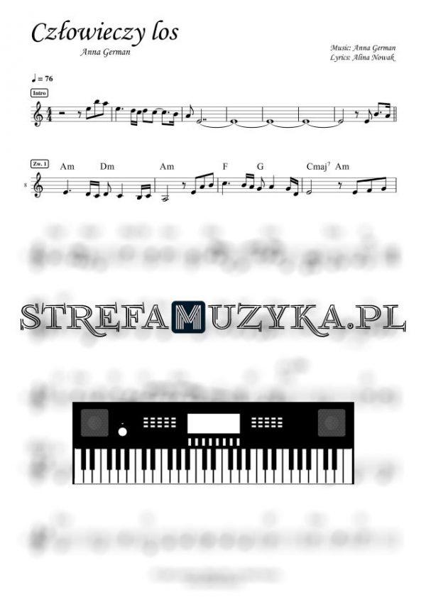 Człowieczy los - Anna German - Nuty Keyboard - StrefaMuzyka.pl