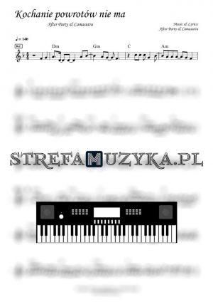 Kochanie powrotów nie ma - After Party & Camasutra - Nuty na Keyboard