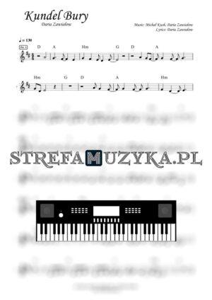 Kundel Bury - Daria Zawiałow - Nuty na Keyboard - StrefaMuzyka.pl