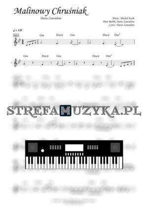 Malinowy Chruśniak - Daria Zawiałow - Nuty Keyboard - StrefaMuzyka.pl