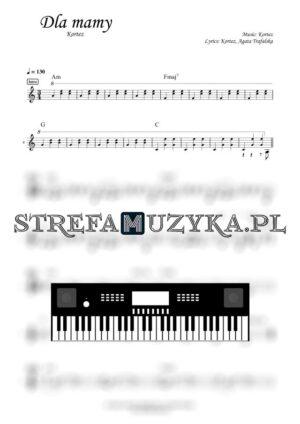 Dla mamy Kortez nuty na keyboard, pianino