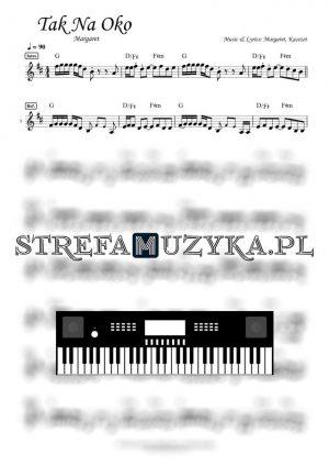 Tak na oko Margaret nuty keyboard pianino