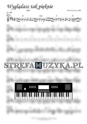 Wyglądasz tak pięknie Sobel nuty na keyboard pianino fortepian