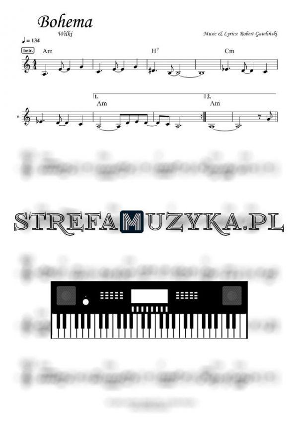 Bohema - Wilki - Nuty na Keyboard - www.StrefaMuzyka.pl