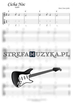 Cicha noc tabulatura na gitarę