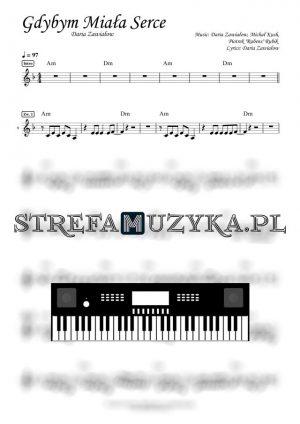 Gdybym miała serce - Daria Zawiałow nuty na keyboard pianino