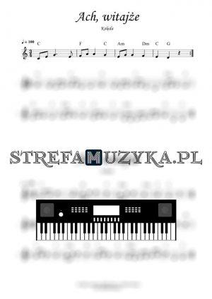 Ach witajże nuty na keyboard pianino