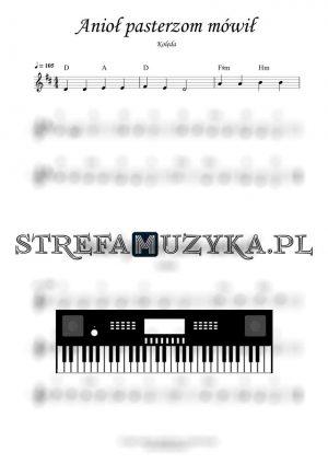 Anioł Pasterzom mówił nuty na keyboard, pianino