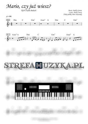 Mario, czy już wiesz? - TGD i Kuba Badach - Keyboard - StrefaMuzyka.pl