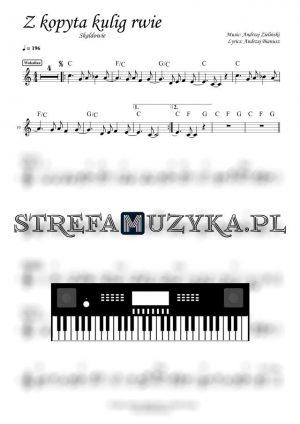 Z kopyta kulig rwie - Skaldowie - Nuty na Keyboard - StrefaMuzyka.pl