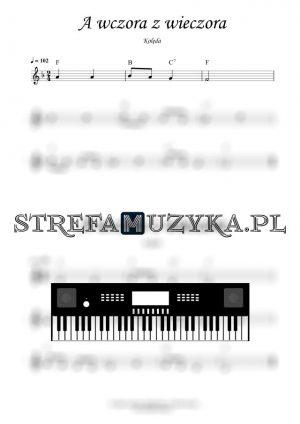 A wczora z wieczora nuty na keyboard pianino