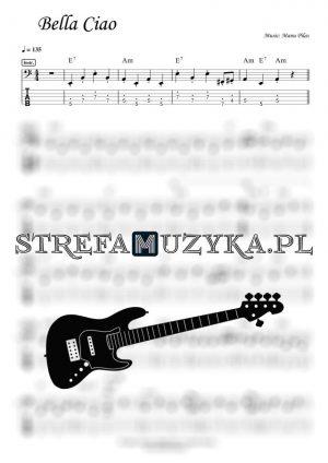 Bella Ciao - Gitara Basowa - Bass Tab - StrefaMuzyka.pl