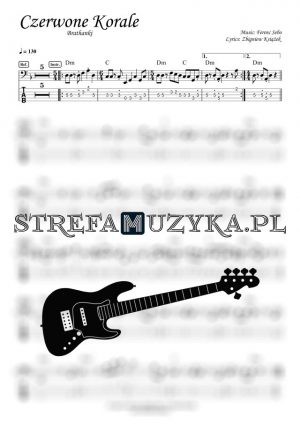 Czerwone Korale - Brathanki - Bass Tab - Gitara Basowa - StrefaMuzyka.pl