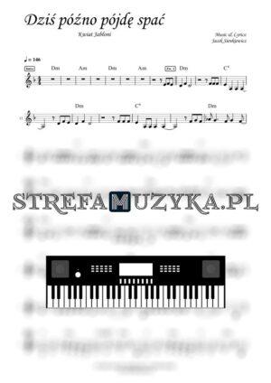 Dziś późno pójdę spać - Kwiat Jabłoni nuty na keyboard, pianino, fortepian