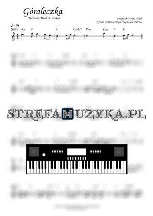 Góraleczka - Mateusz Mijal & Dukat nuty na keyboard, pianino
