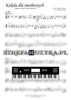 Kolęda dla nieobecnych - Zbigniew Preisner feat. Beata Rybotycka nuty na keyboard, pianino